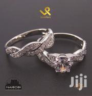 Twisted Bar Genuine Silver Double Ring Engagement N Wedding Bands | Jewelry for sale in Nairobi, Nairobi Central