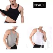 3pack Men's Cotton Gym Vest Black White Grey Men's Undershirt | Clothing for sale in Nairobi, Kasarani