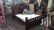 Elegant Stylish Quality 5by6 Hardwood Bed | Furniture for sale in Nairobi, Ngara