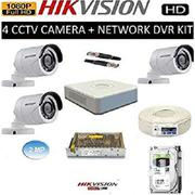 Hikvision Full HD (2MP) 4 CCTV Camera System Kit (All Accessories) | Security & Surveillance for sale in Nairobi, Nairobi Central