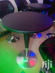 Bar Table. Adjustable Height, Pure Leather and Chrome. | Furniture for sale in Nairobi, Roysambu