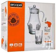 7pcs Arcopal Glassware Set - 6 Glasses + 1 Jug With Lid | Kitchen & Dining for sale in Nairobi, Pangani