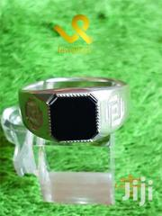 Black Zirconia Men Russian  Sterling  Silver Fashion Ring | Jewelry for sale in Nairobi, Lower Savannah