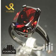 Synthetic Red Garnet Ladies Sterling Silver Cocktail Engagement Ring | Jewelry for sale in Nairobi, Nairobi Central
