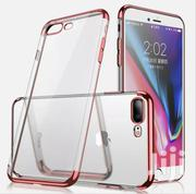iPhone 7p 8p Rose Gold Bumper Clear Back | Accessories for Mobile Phones & Tablets for sale in Mombasa, Mji Wa Kale/Makadara