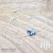 Butterfly Sterling Silver Bracelet With Swarovski Crystal –Denim Blue | Jewelry for sale in Nairobi, Nairobi Central