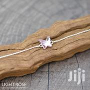 Butterfly Sterling Silver Bracelet With Swarovski Crystal –Light Rose | Jewelry for sale in Nairobi, Nairobi Central
