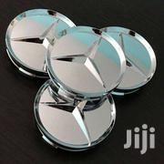 4 X MERCEDES SILVER WHEEL CAPS WITH CHROME STAR | Vehicle Parts & Accessories for sale in Nairobi, Nairobi Central