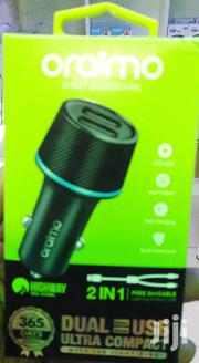 Oraimo 2in1 Dual Usb Car Charger   Accessories for Mobile Phones & Tablets for sale in Nairobi, Nairobi Central