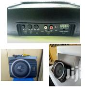 """Compact Powered Subwoofer: 250 Watts And An 8"""" Sub- Graphic 