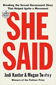 She Said -jodi Kantor And Megan Twohey | Books & Games for sale in Nairobi, Nairobi Central