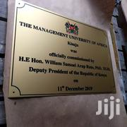 Stainless Steel Metal Alminium Engraving Plaque Free Delivery. | Other Services for sale in Nairobi, Nairobi Central