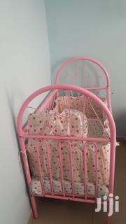 Metallic Baby Bed With Mattress And Fitting | Children's Furniture for sale in Mombasa, Tudor