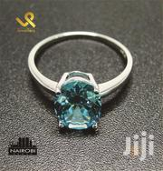 Aquamarine Ladies Sterling Silver Fashion/Engagements Ring | Jewelry for sale in Nairobi, Nairobi Central