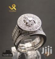 Ladies Sterling Silver Round Cut Double Ring Engagement/Wedding Ring | Jewelry for sale in Nairobi, Nairobi Central