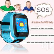 Kids Smart Watch Camera Simcard Gps SOS Flash Light Call Text-blue | Smart Watches & Trackers for sale in Nairobi, Nairobi Central