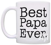 Best Papa Ever Christmas Birthday Father's Day Gift Coffee Mug Tea Cup | Kitchen & Dining for sale in Nairobi, Mountain View