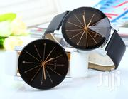 Couple Watches Quartz Dial Leather Watch - Black | Watches for sale in Nairobi, Nairobi Central
