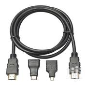 HDMI Cable 3 In1 Adapter - Black | Accessories & Supplies for Electronics for sale in Nairobi, Nairobi Central