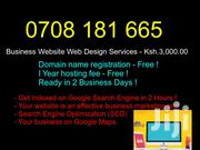 Nairobi Web Designers: Business Website Web Design Services -ksh.3,000 | Computer & IT Services for sale in Mombasa, Majengo