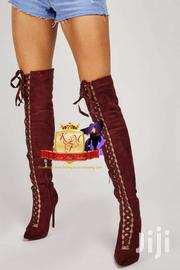 Lace Up Knee High Suedette Boots | Shoes for sale in Nairobi, Mugumo-Ini (Langata)