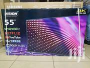 "Vision Plus 55"" 4K Uhd Android Tv,Frameless Design - Black 