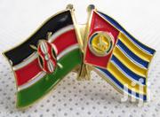 Kenya And Garissa County Double Flags Lapel Pin With Deluxe Clutch | Clothing Accessories for sale in Nairobi, Nairobi Central