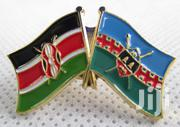 Kenya And Kajiado County Double Flags Lapel Pin With Deluxe Clutch | Clothing Accessories for sale in Nairobi, Nairobi Central