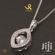 Ladies Sterling Silver Oval Shape Ladies Pendant And Necklace | Jewelry for sale in Nairobi, Nairobi Central