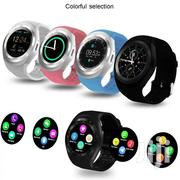 Y1 Bluetooth 3.0 Smart Watch Pedometer Mate Round Touch Screen | Smart Watches & Trackers for sale in Nairobi, Imara Daima