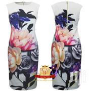 Floral Print Ruched Scuba Shift Dress Made in UK. | Clothing for sale in Nairobi, Mugumo-Ini (Langata)