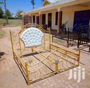 Gold 5x6 Bed With Leather | Furniture for sale in Mombasa, Bamburi