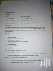 Looking for a School to Teach English and Literature.   Teaching CVs for sale in Migori, Ragana-Oruba