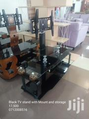 Black TV Stand With Mount Storage and Flat Panel | Furniture for sale in Nairobi, Kilimani