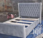 Stylish Modern Quality Upholstered 5by6 Bed | Furniture for sale in Nairobi, Ngara