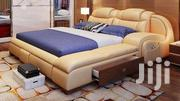 Executive Leather Wooden Bed-mahogany Hardwood | Furniture for sale in Nairobi, Nairobi Central