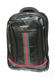"""Leather Laptop Bag 17"""" - Black 