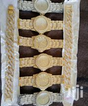 Silver And Gold Classy Iced Watches And Bracelets   Jewelry for sale in Nairobi, Nairobi Central