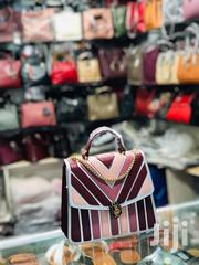 PU Leather Detailed Stripped Shoulder Bag | Bags for sale in Nairobi, Nairobi Central