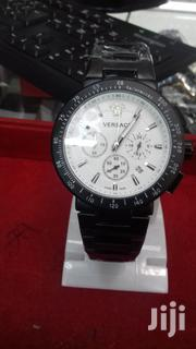 Black and Silver Tachymeter Versace Watch With Functional Subdials | Watches for sale in Nairobi, Nairobi Central