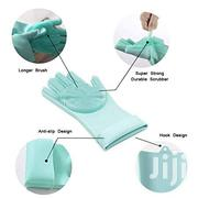 Magic Silicone Dishwashing Gloves With Scrubber (Green/Blue)   Kitchen & Dining for sale in Nairobi, Nairobi Central