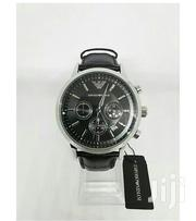 New Emporio Armani Mens Ar2447 Watch Black Dial Leather Strap | Watches for sale in Mombasa, Shimanzi/Ganjoni