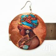 Fashion Round African Lady Print Wooden Hoop Earrings   Jewelry for sale in Nairobi, Nairobi Central