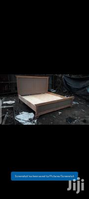 Wooden Bed With Mahogany | Furniture for sale in Nairobi, Ngara