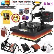 8 In 1 Heat Press Machine Transfer Sublimation For T-shirt Mug Hat Cap | Printing Equipment for sale in Nairobi, Nairobi Central