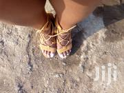 Suede Brown Chunky Heels,With Straps   Shoes for sale in Kajiado, Ongata Rongai