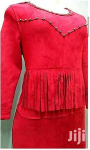 Red Suede Dress Size 10/Small 12 | Clothing for sale in Nairobi, Nairobi Central