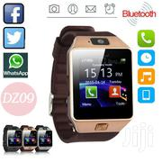 DZ09 Touchscreen Gold Bluetooth Smart Watch SIM Slot | Smart Watches & Trackers for sale in Nairobi, Nairobi Central