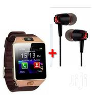Dz09 Gold Brown With Free Earphones | Smart Watches & Trackers for sale in Nairobi, Nairobi Central