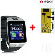 Dz09 Smart Watch Silver With Free Earphones | Smart Watches & Trackers for sale in Nairobi, Nairobi Central